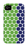 Blue Green Dots iPhone 4/4S Case by  Avalisa