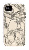 Orchid on Khaki I iPhone 4/4S Case by Samuel Curtis