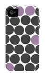 Purple Dots iPhone 4/4S Case by Avalisa