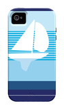 Navy Sail iPhone 4/4S Case por Avalisa