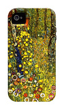 Garden with Crucifix iPhone 4/4S Case by Gustav Klimt
