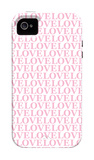 Pink Love Love Love iPhone 4/4S Case by Avalisa