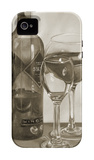 Black and White Wine Series II iPhone 4/4S Case by Jennifer Goldberger