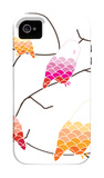 Pink Owl Branch iPhone 4/4S Case by  Avalisa