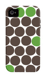 Green Dots iPhone 4/4S Case by  Avalisa