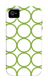 Green Circles iPhone 4/4S Case por Avalisa