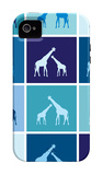 Blue Giraffe Squares iPhone 4/4S Case by  Avalisa