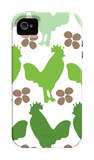 Green Chicken Family iPhone 4/4S Case by  Avalisa
