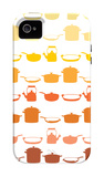 Orange Pots and Pans iPhone 4/4S Case by  Avalisa