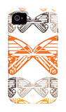 Orange Butterfly Patch iPhone 4/4S Case by  Avalisa