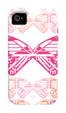 Pink Butterfly Patch iPhone 4/4S Case by  Avalisa