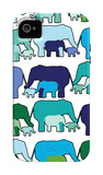 Cool Elephant Pattern iPhone 4/4S Case por Avalisa
