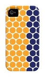 Blue Orange Dots iPhone 4/4S Case por Avalisa