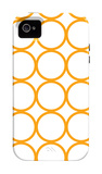Orange Circles iPhone 4/4S Case by  Avalisa