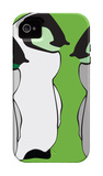 Baby Penguins in Green iPhone 4/4S Case by  Avalisa