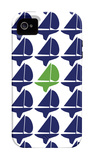Navy Green Regatta iPhone 4/4S Case by  Avalisa