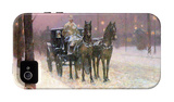 Street Scene with Two Cabs iPhone 4/4S Case by Childe Hassam