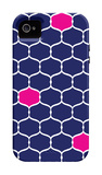 Navy Pink Trellis iPhone 4/4S Case by  Avalisa