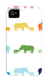 Rainbow Rhinos iPhone 4/4S Case by Avalisa