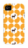 Orange Deer Hoof iPhone 4/4S Case by  Avalisa