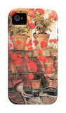 Red Geraniums iPhone 4/4S Case by Childe Hassam