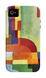 Colored Forms (I) iPhone 4/4S Case by August Macke