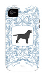 Blue Lab Frame iPhone 4/4S Case by Avalisa