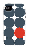 Blue Red Cut-out iPhone 4/4S Case by  Avalisa