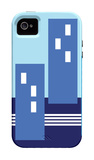 Blue Buildings iPhone 4/4S Case por Avalisa