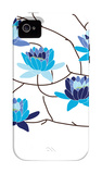 Blue Flowering Tree iPhone 4/4S Case by  Avalisa