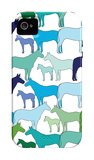Cool Horse Pattern iPhone 4/4S Case por Avalisa