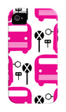 Pink Bus Stop iPhone 4/4S Case by  Avalisa