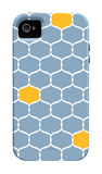 Blue Orange Trellis iPhone 4/4S Case by  Avalisa