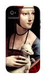 Portrait of a Lady with Ermine iPhone 4/4S Case por Leonardo da Vinci