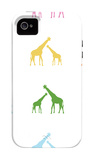Rainbow Giraffes iPhone 4/4S Case by  Avalisa