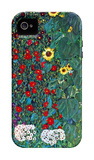 Garden with Crucifix iPhone 4/4S Case por Gustav Klimt