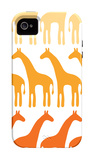 Orange Giraffe Family iPhone 4/4S Case by  Avalisa
