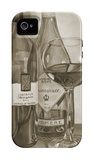 Black and White Wine Series I iPhone 4/4S Case by Jennifer Goldberger