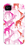 Pink Giraffe Pattern iPhone 4/4S Case by Avalisa