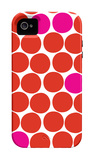 Red Pink Dots iPhone 4/4S Case by  Avalisa