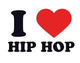 I Heart Hip Hop Giclee Print