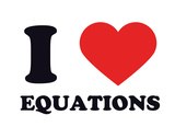 I Heart Equations Giclee Print