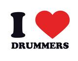 I Heart Drummers Giclee Print