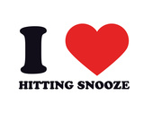 I Heart Hitting Snooze Giclee Print