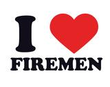 I Heart Firemen Giclee Print