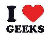 I Heart Geeks Giclee Print
