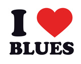 I Heart Blues Giclee Print