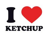 I Heart Ketchup Giclee Print