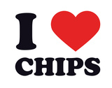 I Heart Chips Giclee Print