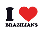 I Heart Brazilians Giclee Print